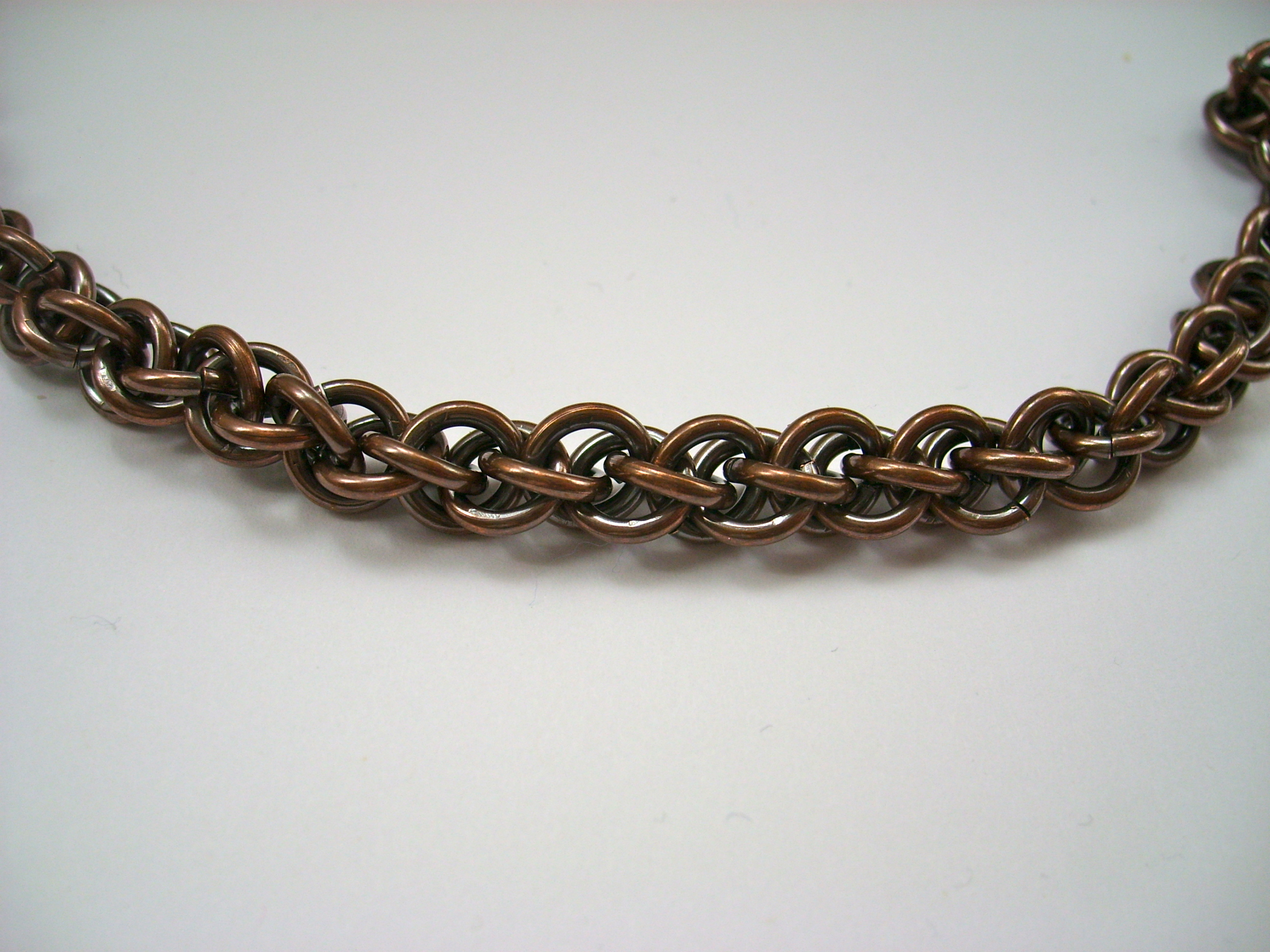 Oxidized Copper Bracelet